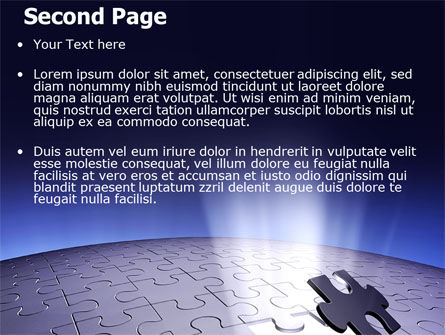 Blue Sphere Jigsaw PowerPoint Template Slide 2
