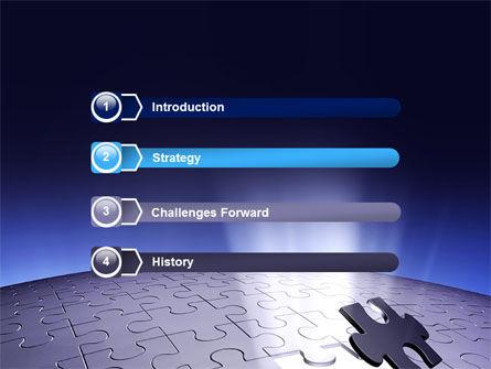 Blue Sphere Jigsaw PowerPoint Template, Slide 3, 05661, Consulting — PoweredTemplate.com