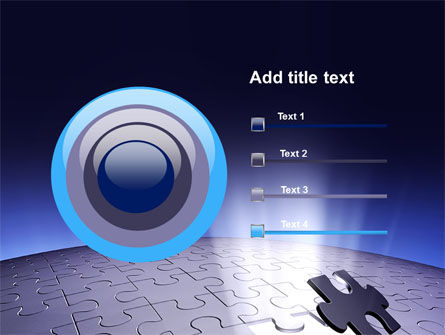 Blue Sphere Jigsaw PowerPoint Template Slide 9