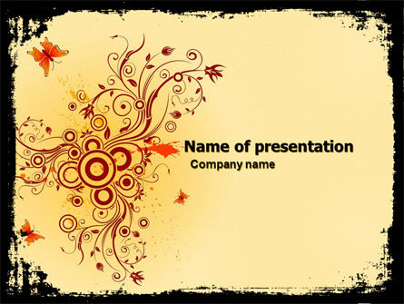 Floral Keynote PowerPoint Template, 05662, Abstract/Textures — PoweredTemplate.com