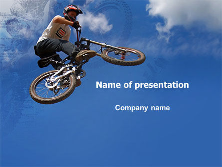 Sports: Freeride PowerPoint Template #05663