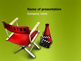 Careers/Industry: Film Director Chair PowerPoint Template #05664