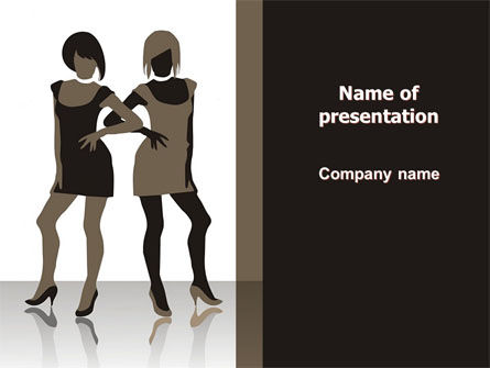 Careers/Industry: Fashion Models PowerPoint Template #05665