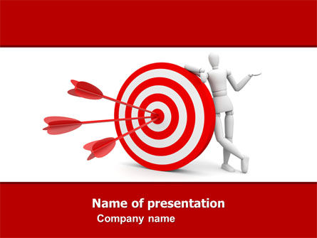 reach target powerpoint template, backgrounds | 05667, Modern powerpoint