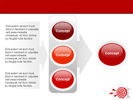 Reach Target PowerPoint Template Slide 11