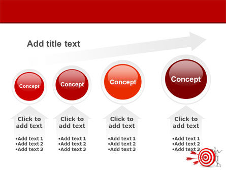 Reach Target PowerPoint Template Slide 13