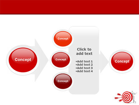Reach Target PowerPoint Template Slide 17