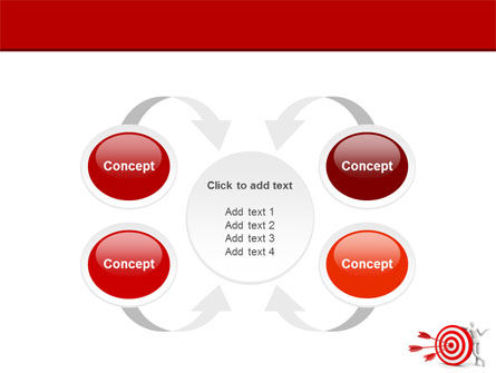 Reach Target PowerPoint Template Slide 6