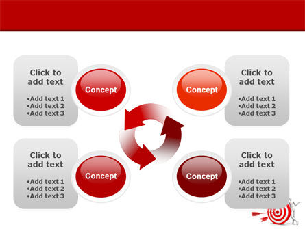 Reach Target PowerPoint Template Slide 9