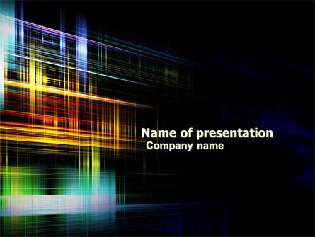 Bright Lines PowerPoint Template, 05669, Abstract/Textures — PoweredTemplate.com