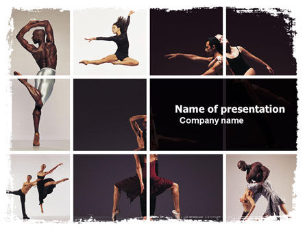 Art & Entertainment: Contemporary Dance PowerPoint Template #05671