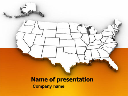 American States PowerPoint Template, 05672, America — PoweredTemplate.com