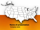 America: American States PowerPoint Template #05672