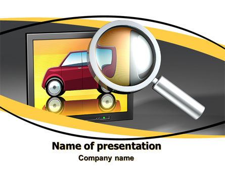 Careers/Industry: Auto Search PowerPoint Template #05673