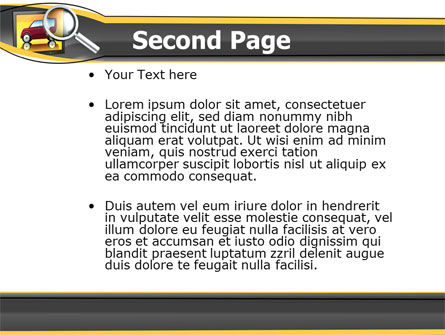 Auto Search PowerPoint Template Slide 2