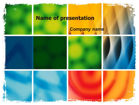 Colors Multiscreen Collage PowerPoint Template