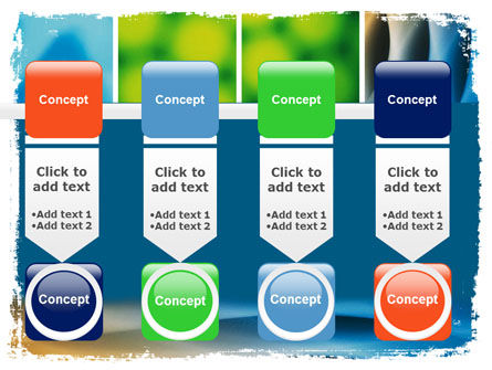 Colors Multiscreen Collage PowerPoint Template Slide 18