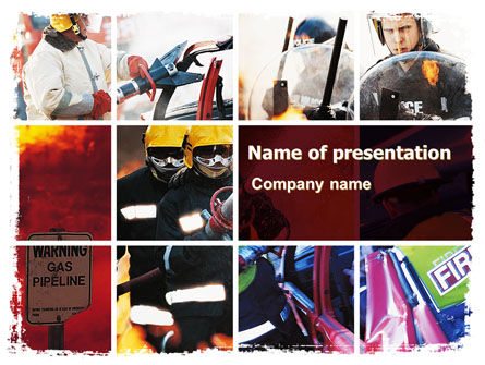 Emergency Situation PowerPoint Template, 05675, Legal — PoweredTemplate.com
