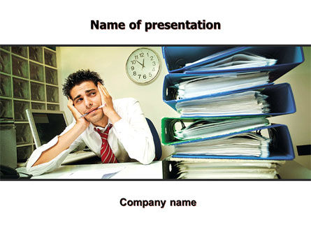 Business: Work Pressure PowerPoint Template #05676