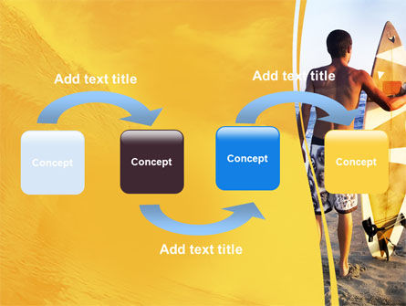 Surfer On A Sunset PowerPoint Template, Slide 4, 05678, Sports — PoweredTemplate.com