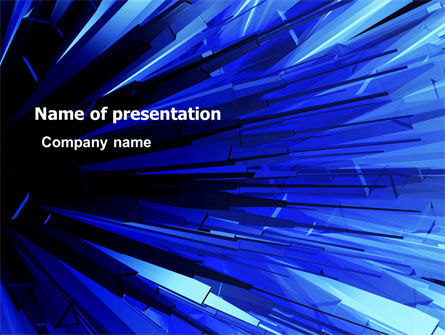 Blue Crystal Free PowerPoint Template