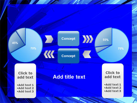 Blue Crystal Free PowerPoint Template Slide 11