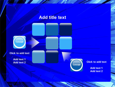 Blue Crystal Free PowerPoint Template Slide 16