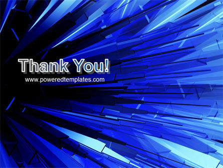 Blue Crystal Free PowerPoint Template Slide 20