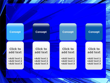 Blue Crystal Free PowerPoint Template Slide 5