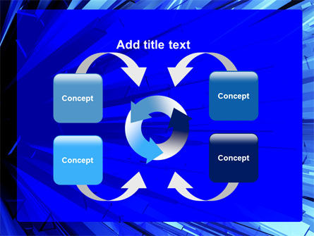 Blue Crystal Free PowerPoint Template Slide 6
