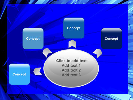 Blue Crystal Free PowerPoint Template Slide 7