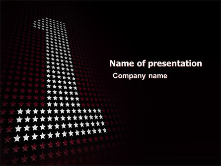Number One PowerPoint Template, 05680, Business Concepts — PoweredTemplate.com