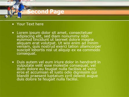 Football Match PowerPoint Template, Slide 2, 05681, Sports — PoweredTemplate.com