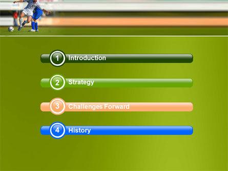 Football Match PowerPoint Template, Slide 3, 05681, Sports — PoweredTemplate.com
