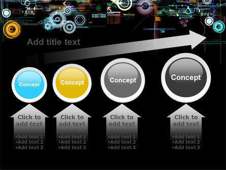 Abstract Dark Colored Digital PowerPoint Template Slide 13