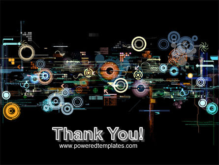 Abstract Dark Colored Digital PowerPoint Template Slide 20