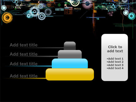 Abstract Dark Colored Digital PowerPoint Template Slide 8
