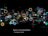 Abstract/Textures: Abstract Dark Colored Digital PowerPoint Template #05683
