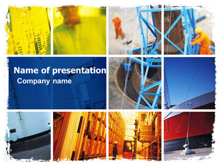 Harbor PowerPoint Template, 05684, Utilities/Industrial — PoweredTemplate.com