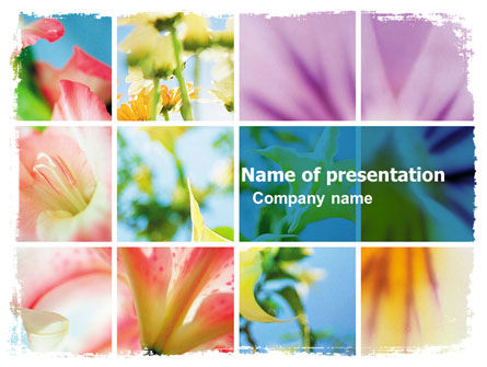 Blooming Lilies Free PowerPoint Template