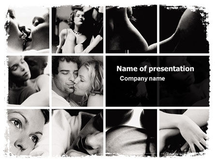 Intimacy PowerPoint Template, 05688, People — PoweredTemplate.com