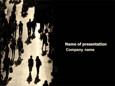 Crowd PowerPoint Template, 05693, People — PoweredTemplate.com