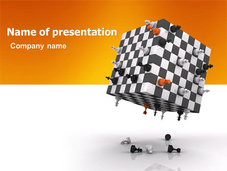 Business Concepts: Game of Chess PowerPoint Template #05694