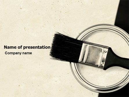 Paint Brush PowerPoint Template, 05695, Utilities/Industrial — PoweredTemplate.com