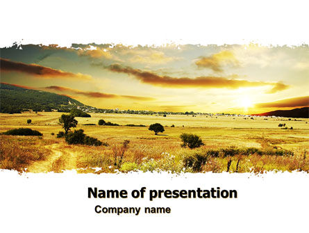 Yellow Valley PowerPoint Template
