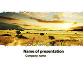 Nature & Environment: Yellow Valley PowerPoint Template #05696