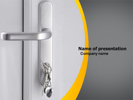 Careers/Industry: Door Keys Free PowerPoint Template #05699