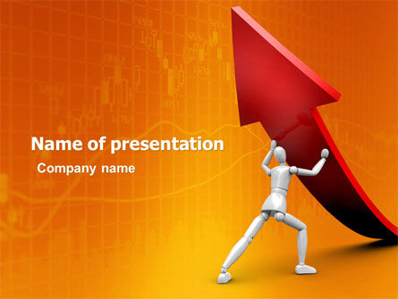 Financial/Accounting: Forcing Improving Growth PowerPoint Template #05700