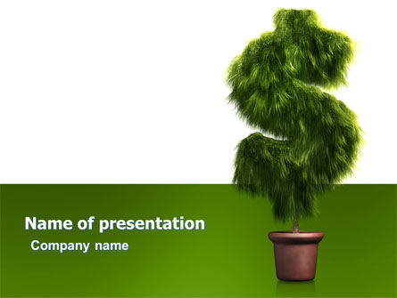Dollar Tree PowerPoint Template, 05701, Financial/Accounting — PoweredTemplate.com