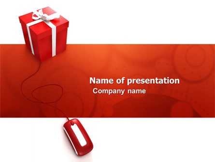 Online Present Shop PowerPoint Template, 05702, Holiday/Special Occasion — PoweredTemplate.com